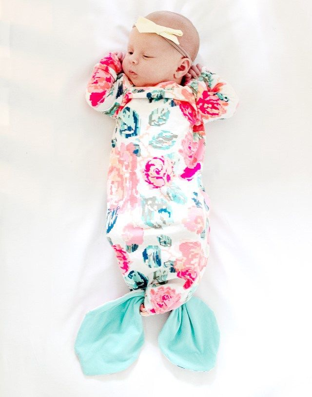 Mermaid Baby Gown free sewing pattern and Tutorial | Best of Sewing ...