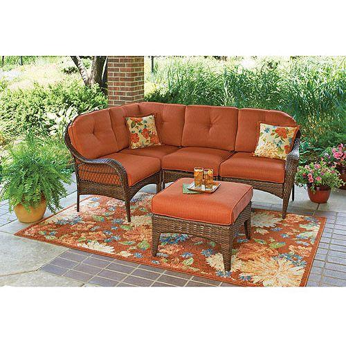 Better Homes And Gardens Azalea Ridge 5 Piece Sectional Sofa Set Seats 4 Walmart Com Outdoor Bistro Set Better Homes And Gardens Patio Dining Set