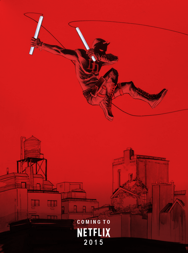 dshalv: Cheers to Marvel Spider who took a DAREDEVIL commission I just finished and turned it into a teaser for the upcoming Netflix show.