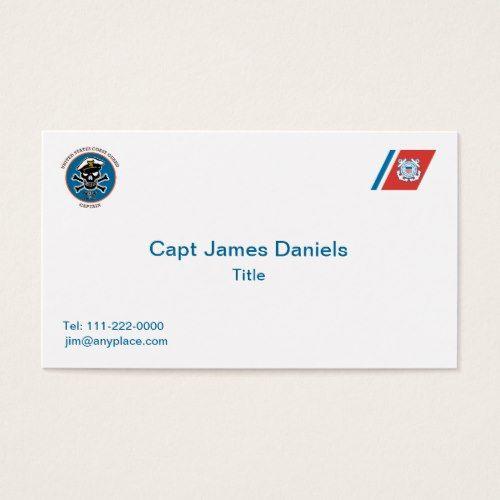 Us Coast Guard Captain Business Card Zazzle Com Us Coast Guard Coast Guard Business Cards