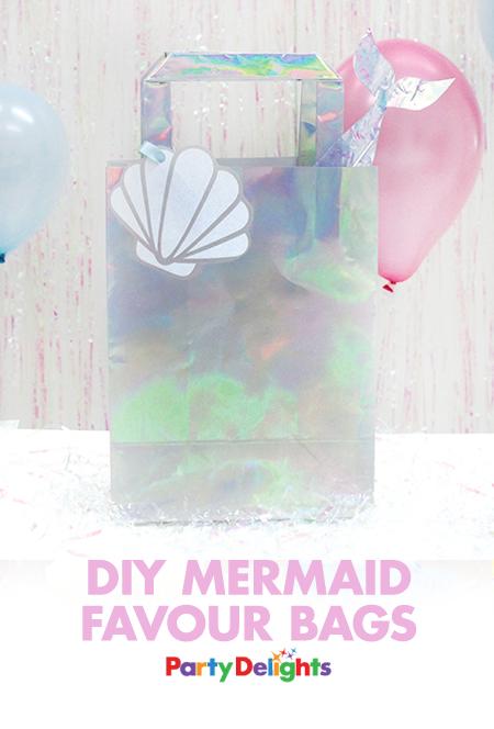 fab48e5f3b416 DIY Mermaid Party Bags | Mermaid Party | Mermaid parties, Party bags ...