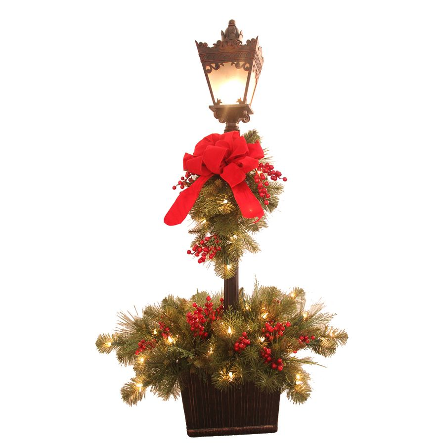 shop ge 48 in lighted lamp post indoor christmas decoration at lowescom