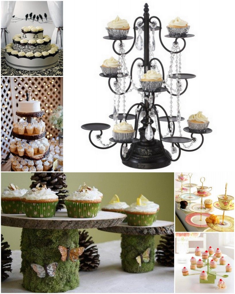 I love the chandelier cupcake holder. A definite need at ...