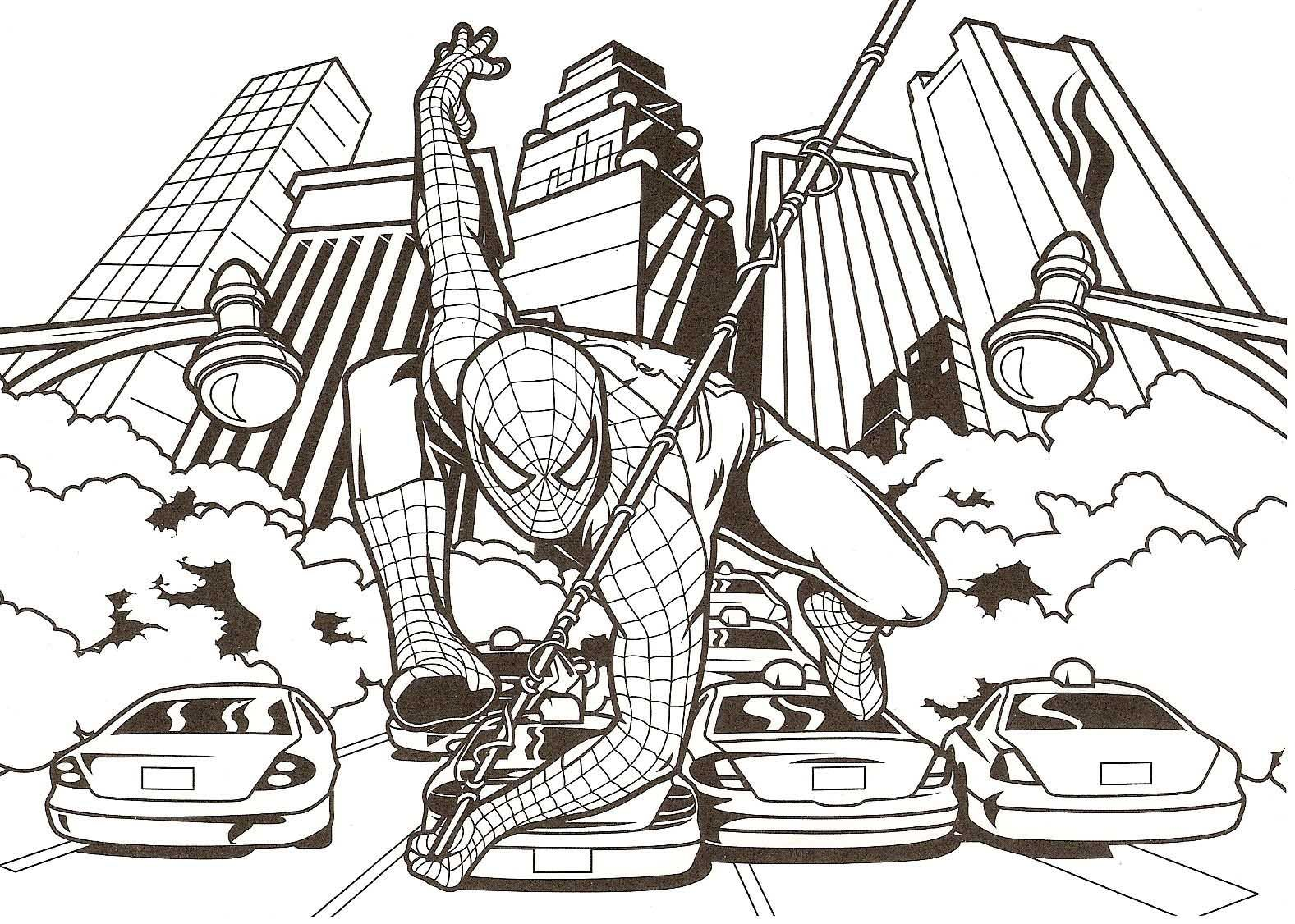 Colouring in pages games - Spider Man Coloring Pages Games