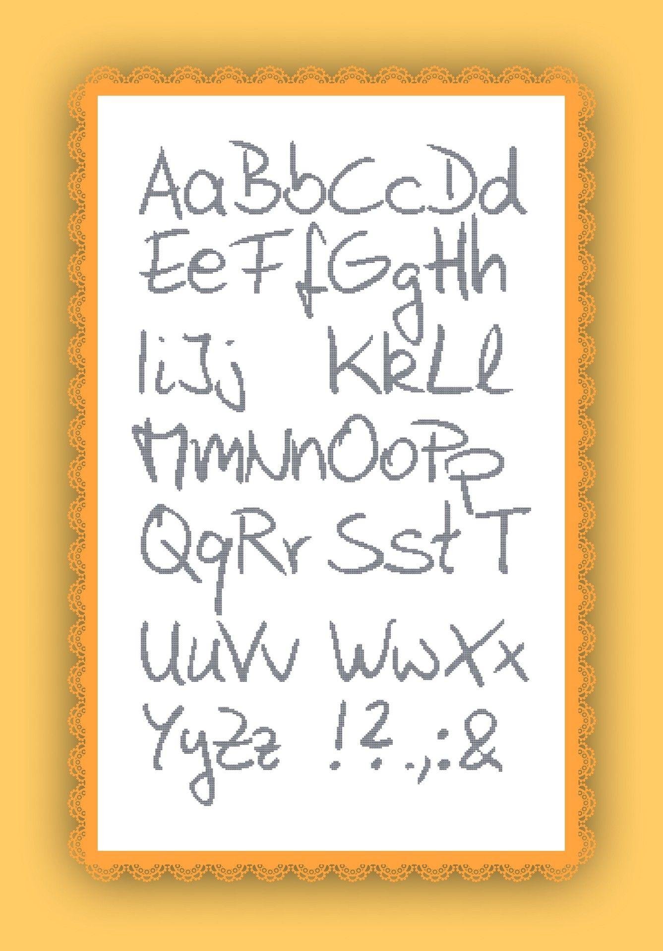 Kreuzstich Stickvorlage yayaya ABC alphabet | Sticken | Pinterest ...
