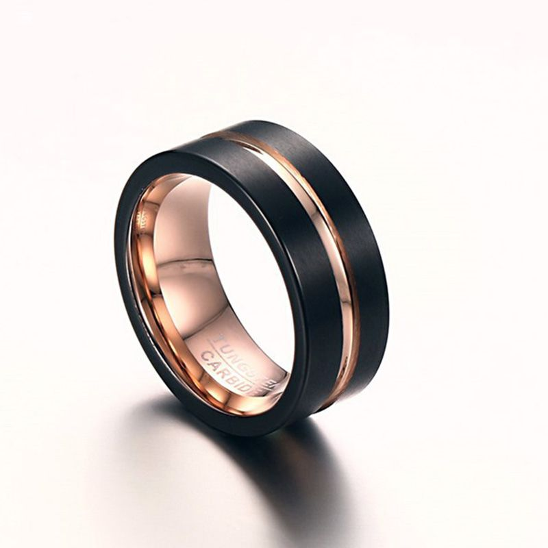 Pin On Tungsten Rings