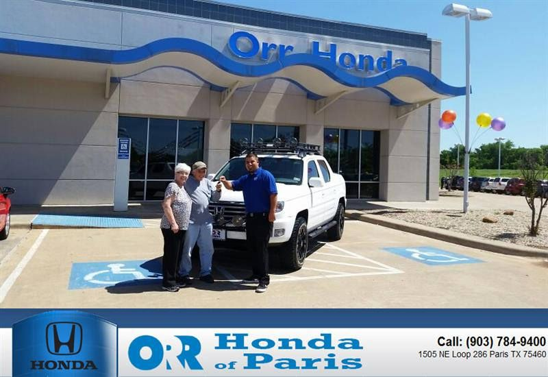 Congratulations To John Traister On Your Purchase From Tyler Bush At Orr  Honda Of Paris!