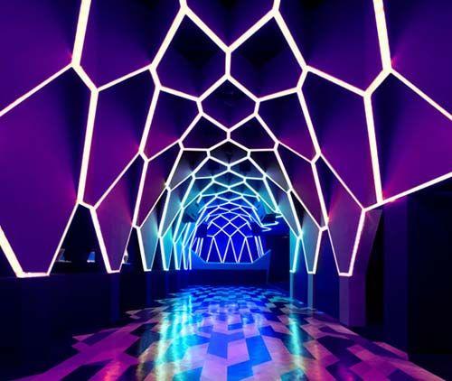 nightclub interior design rocky club interior design with hexagonal