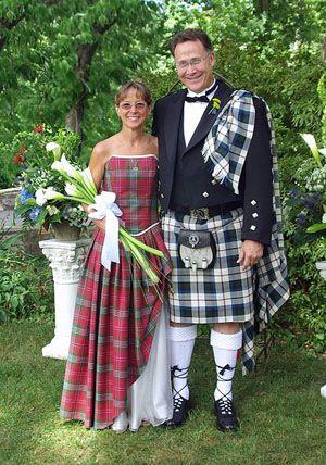 Plaid Bridal Dresses