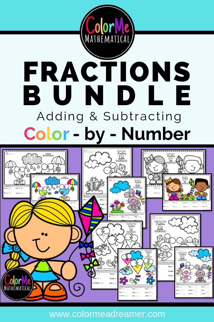 hight resolution of Looking for adding and subtracting fractions worksheets? Grab this BUNDLE  in my T…   Adding and subtracting fractions