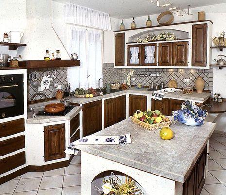 cucina in finta muratura Palma Arredo | idee per la casa - mobilio ...