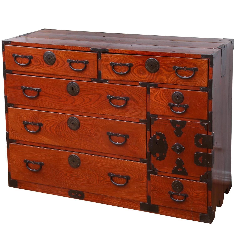 Meiji Period Isho Dansu Tansu Chest Japanese Furniture