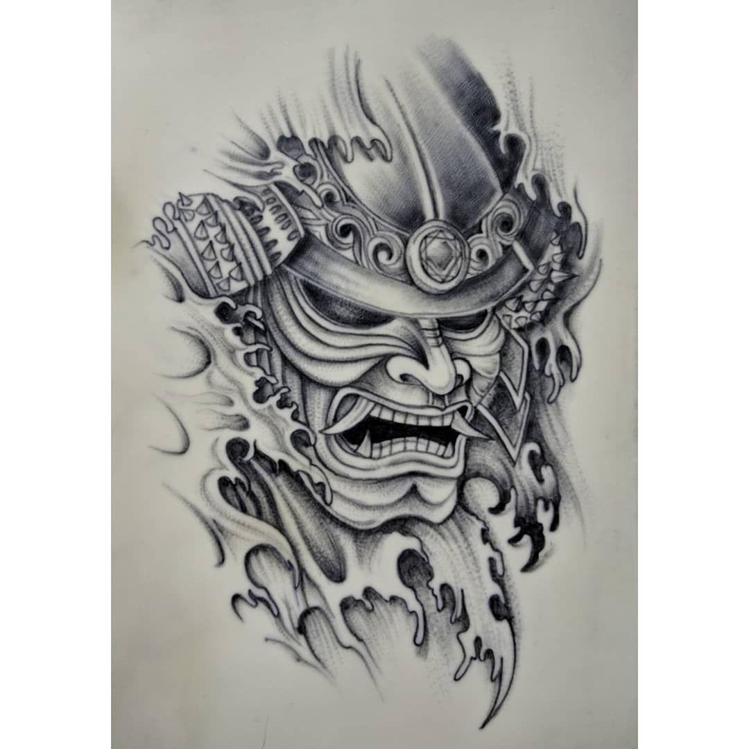 Samurai Sleeve Samurai Tattoo Design Samurai Tattoo Samurai Mask Tattoo
