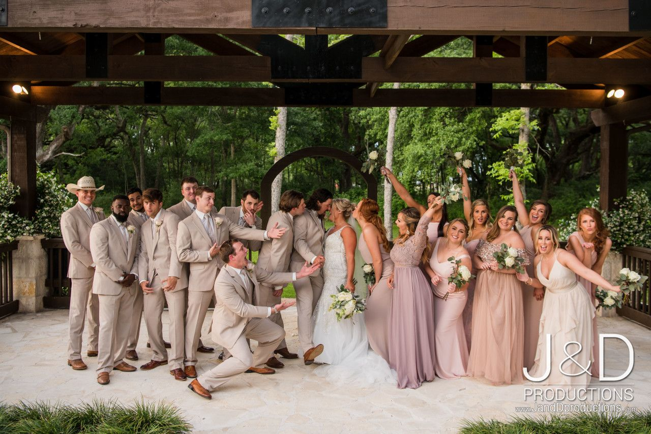 Summer Wedding Bridal Party Blush Pink Tan Wedding Party Elegant Bridal Party Bridal Party Co Bridal Parties Colors Tan Wedding Wedding Venue Houston