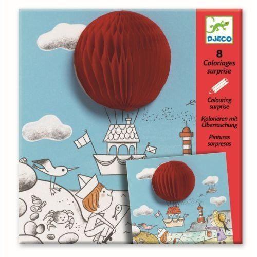 Kreativset für Kinder, Malbuch Kolorieren Bunte Überraschung \