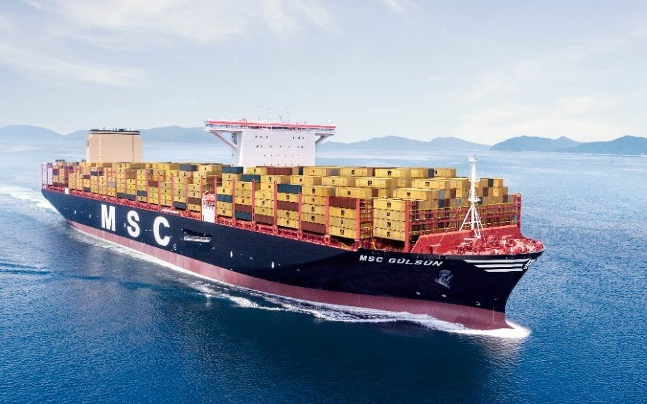 World S Biggest Cargo Ship Longer Than 36 Buses Arrives In Europe Cargo Shipping Ship Europe