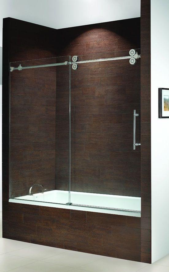 Frameless Bathtub Doors Kinetik Frameless Sliding Tub