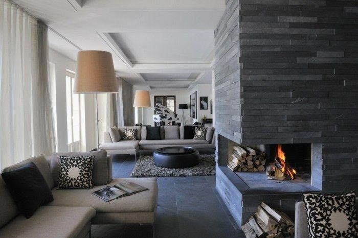 Farbideen Wohnzimmer Grau für Stil, Stabilität und Harmonie