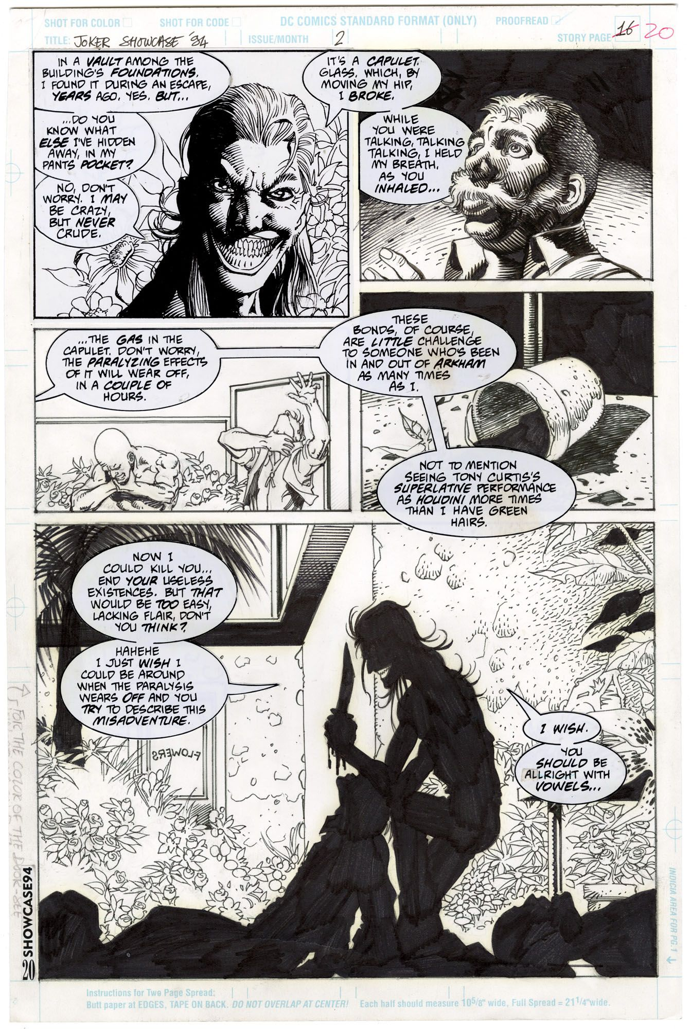I almost feel I have to sensor this page it's so gruesome. The Joker at his most macabre.