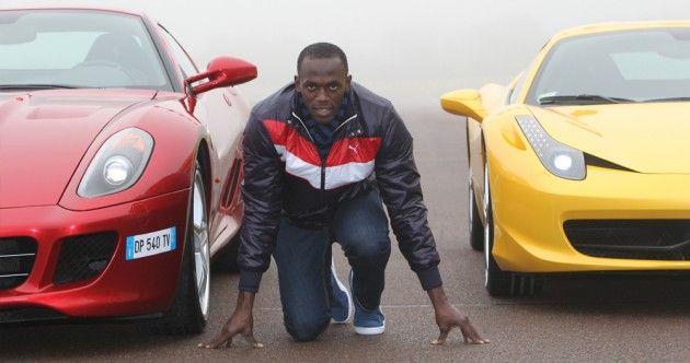 Usain Bolt vs.Ferrari   Usain bolt, Fastest man, Fast cars