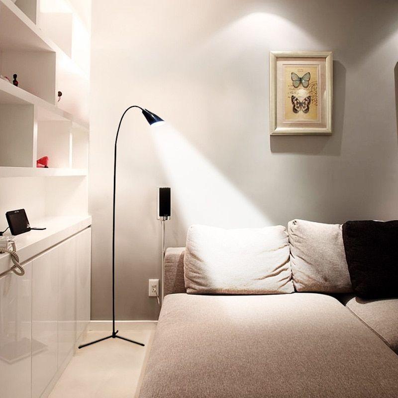 led floor lamp flexible gooseneck standing usb dimmer