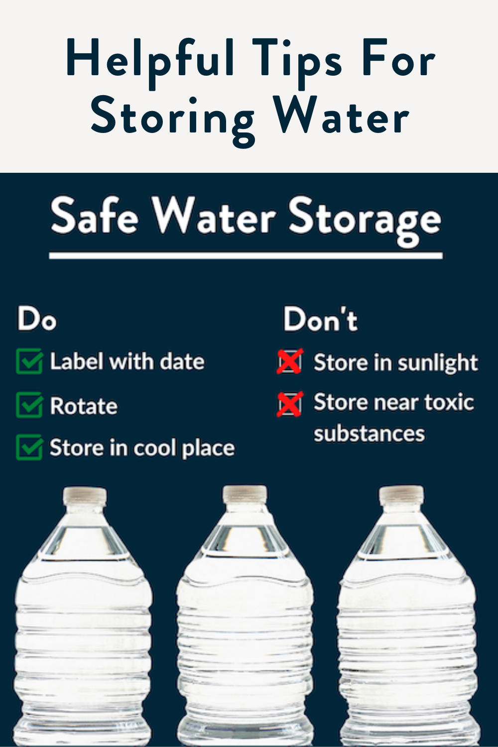 Helpful Tips For Storing Water In 2020 Storing Water Family Stress Helpful Hints