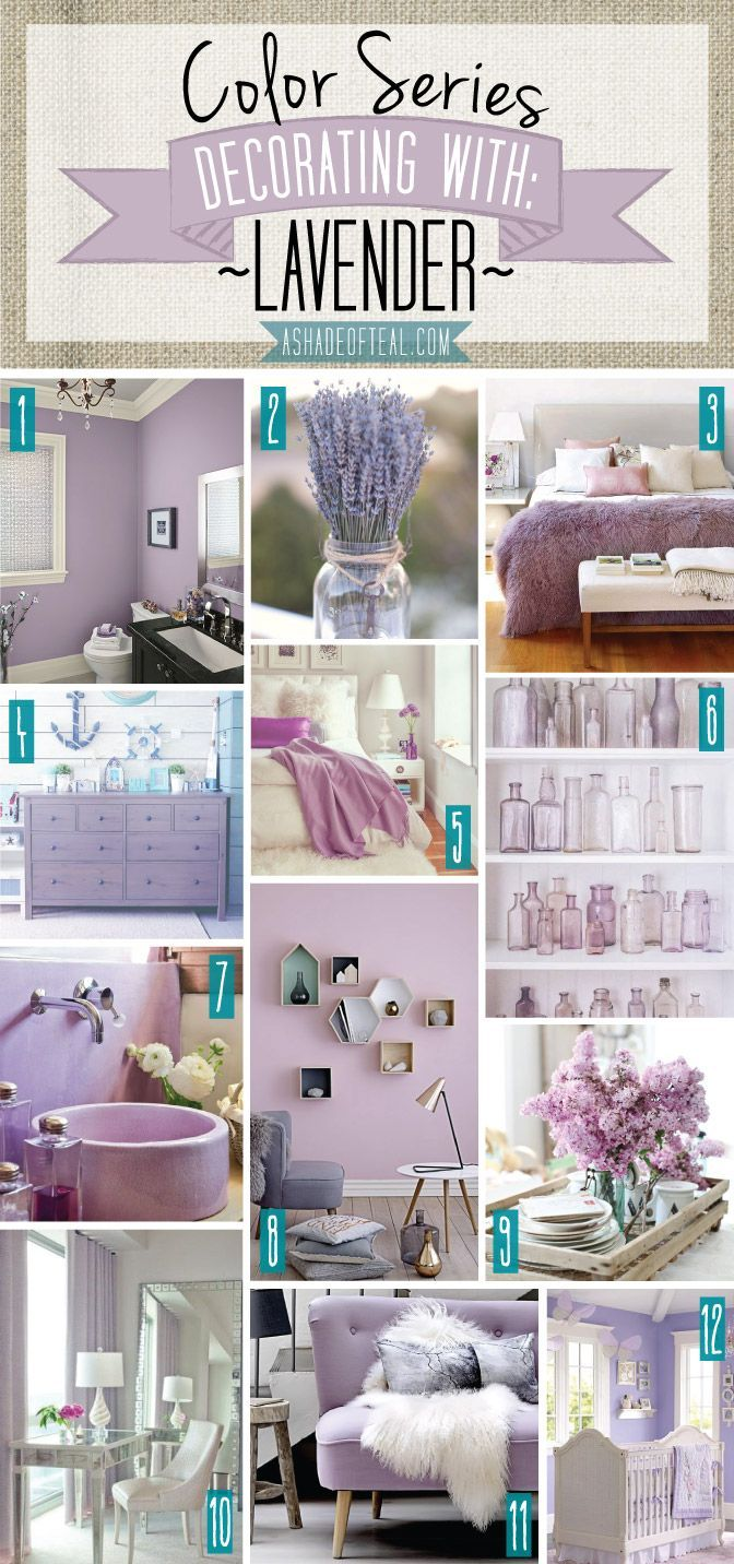 Color Series; Decorating with Lavender  Lilac bedroom, Home decor