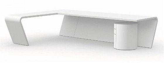 Modern office desk | Modern white desk, White desk office ...