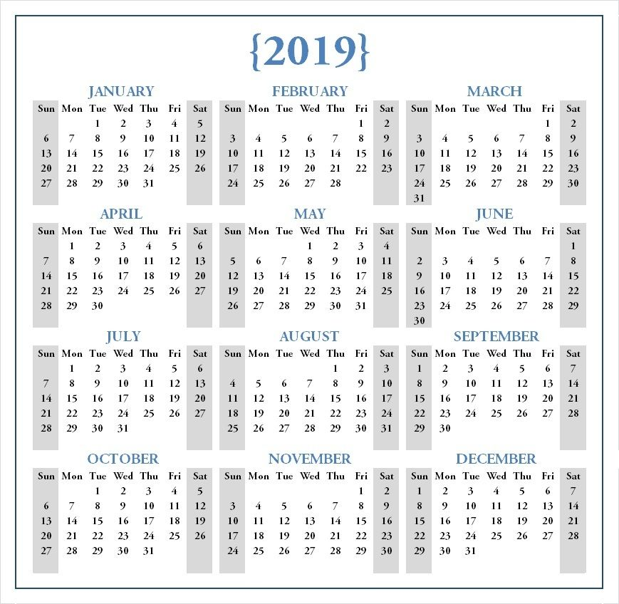 Free 2020 One Page Calendar Printable Download Calendar