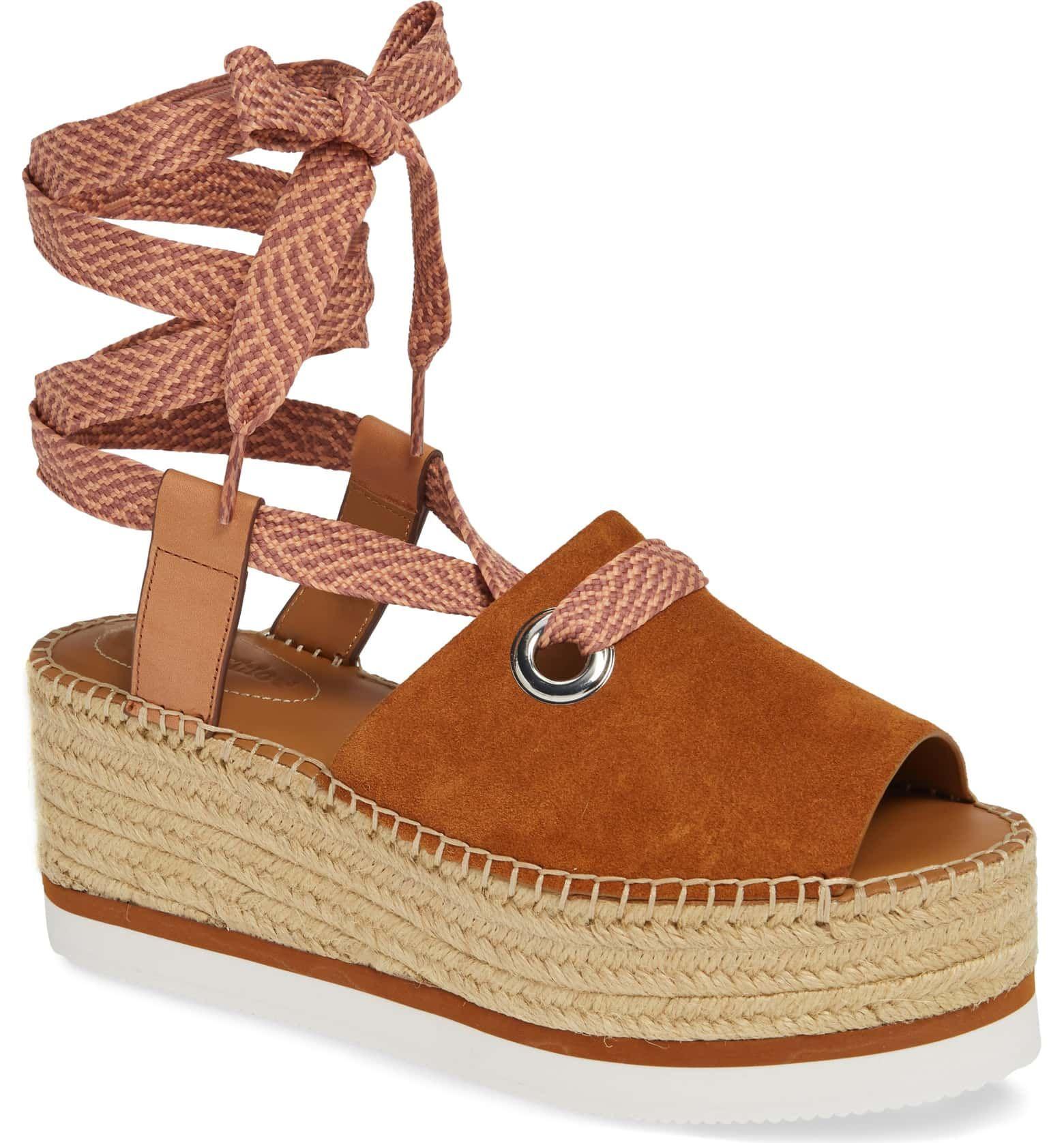 1145ecf42b5e See by Chloé Glyn Amber Platform Ankle Wrap Sandal (Women ...
