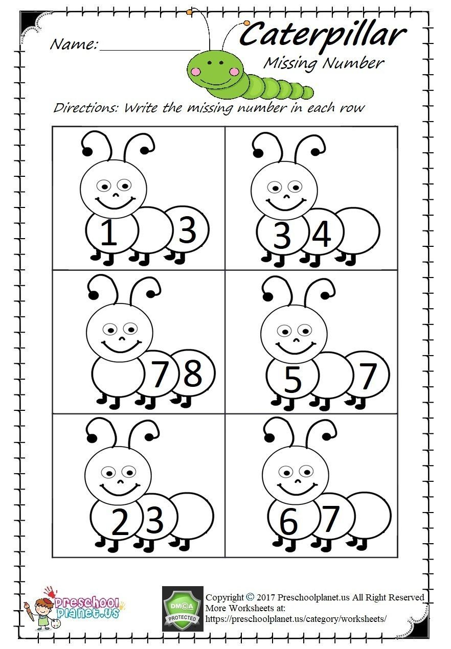 Missing Number Worksheet Pdf Easy And Printable Preschool Math Worksheets Kindergarten Math Numbers Numbers Preschool
