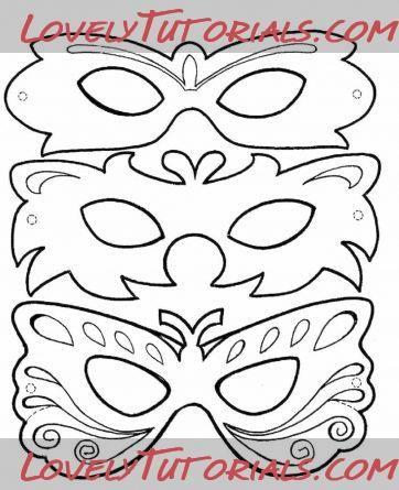 Printable Masks Printables Techno Mardi Gras Mask Template