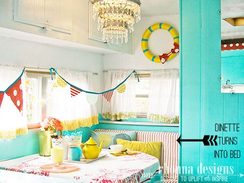 14 Gorgeous Camper Decorating Ideas Camper interior Rv and