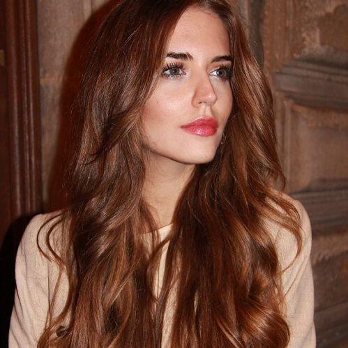 reddish chestnut hair color cute cuts pinterest