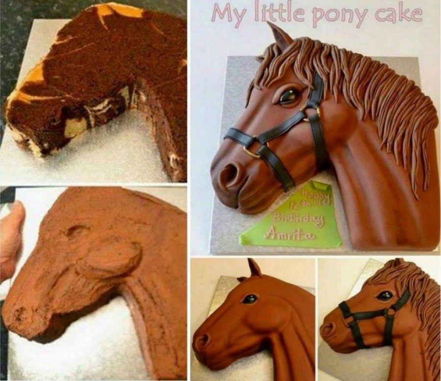 Rainbow Unicorn Cake Ideas Easy Video Instructions Pony Cake