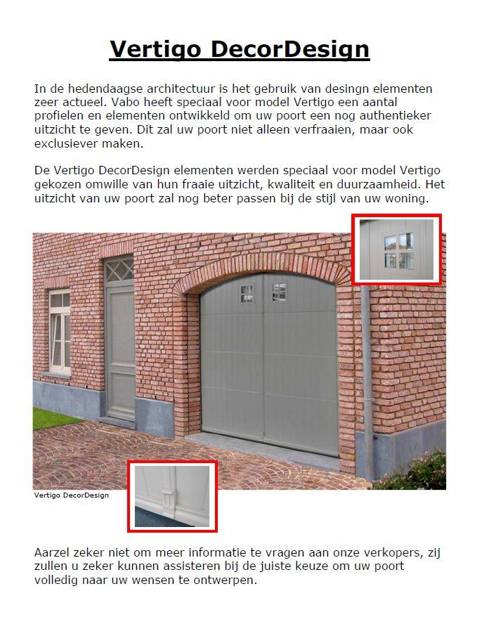 Vertigo design met makelaar / plint / raampjes