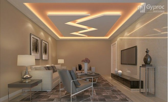 False Ceiling Designs For Living Room | Saint-Gobain ...