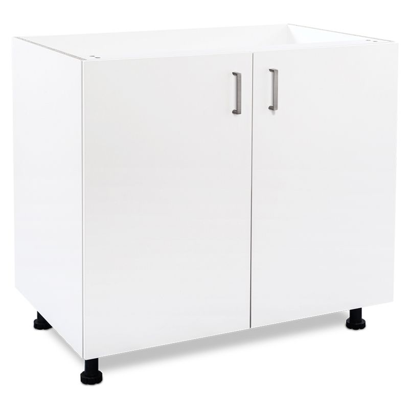 Flatpax Utility 900mm White 2 Door Base Cupboard Cupboard Utility Base Cabinet Tall Cabinet Storage