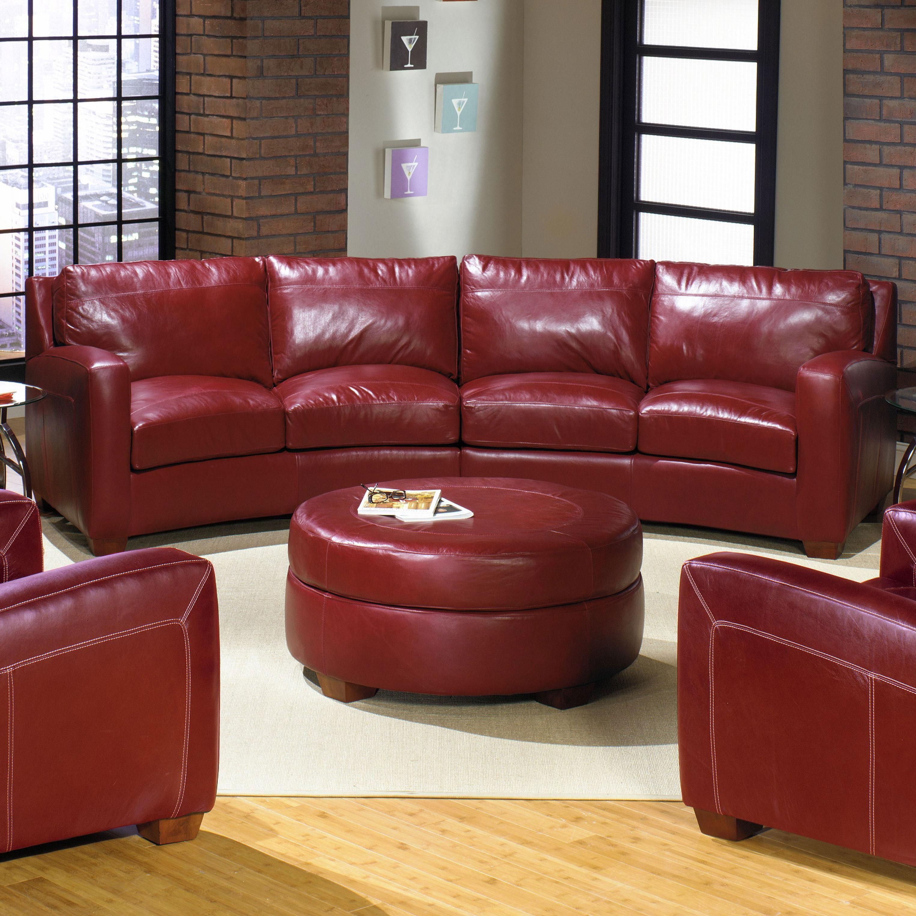 2950 2 Piece Leather Sectional Sofa By Usa Premium Leather Wolf