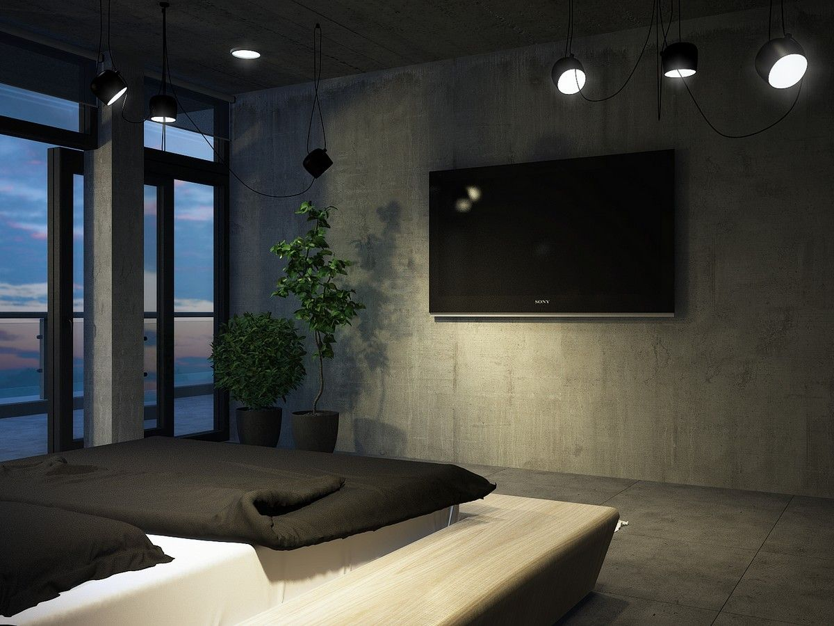 Bedroom interior roof roof apartment in kiev with a genuine feel by vitaliy yurov