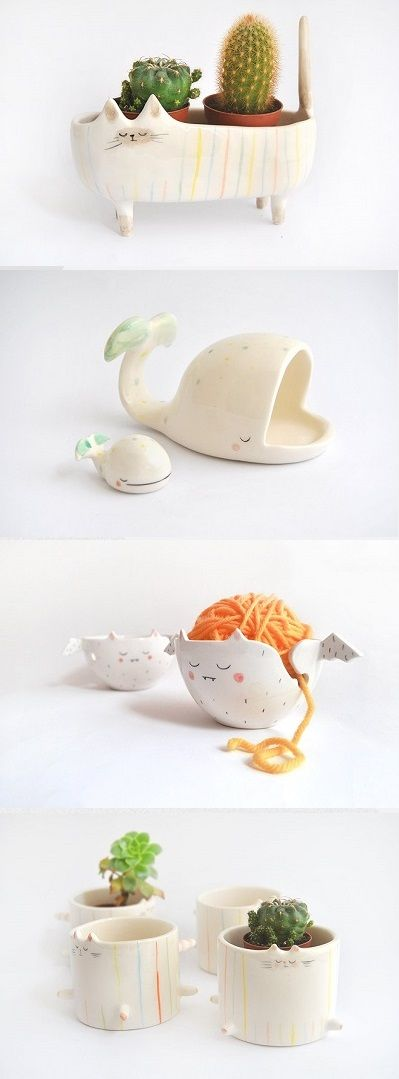 Quirky ceramics by barruntando blog features pinterest keramik keramik t pfern und t pferei - Schulprojekte ideen ...