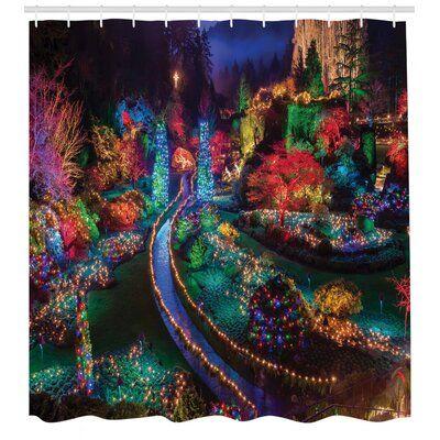 East Urban Home Garden Shower Curtain Set + Hooks | Wayfair