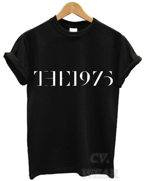 the 1975 black t shirt swag facedown rock band music indie men women unisex matt  healy