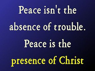For He (Jesus) is our peace.. EPH 2:14 HCSB