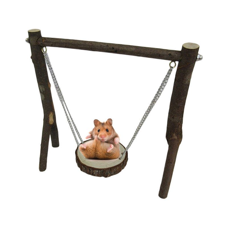 9 19 Small Animals Pet Hamster Chinchilla Mouse Wooden Hanging Swing Exercise Toy Diy Ebay Home Garden Hamster Toys Hamster Accessories Pet Hammock