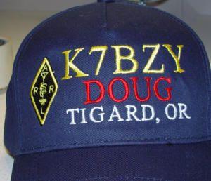 77972114ae6f0 Custom Embroidered Ham Radio Call Sign Hats