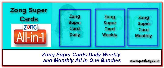 Zong Super Card Daily Weekly Monthly All In One Bundles Cards All In One Super