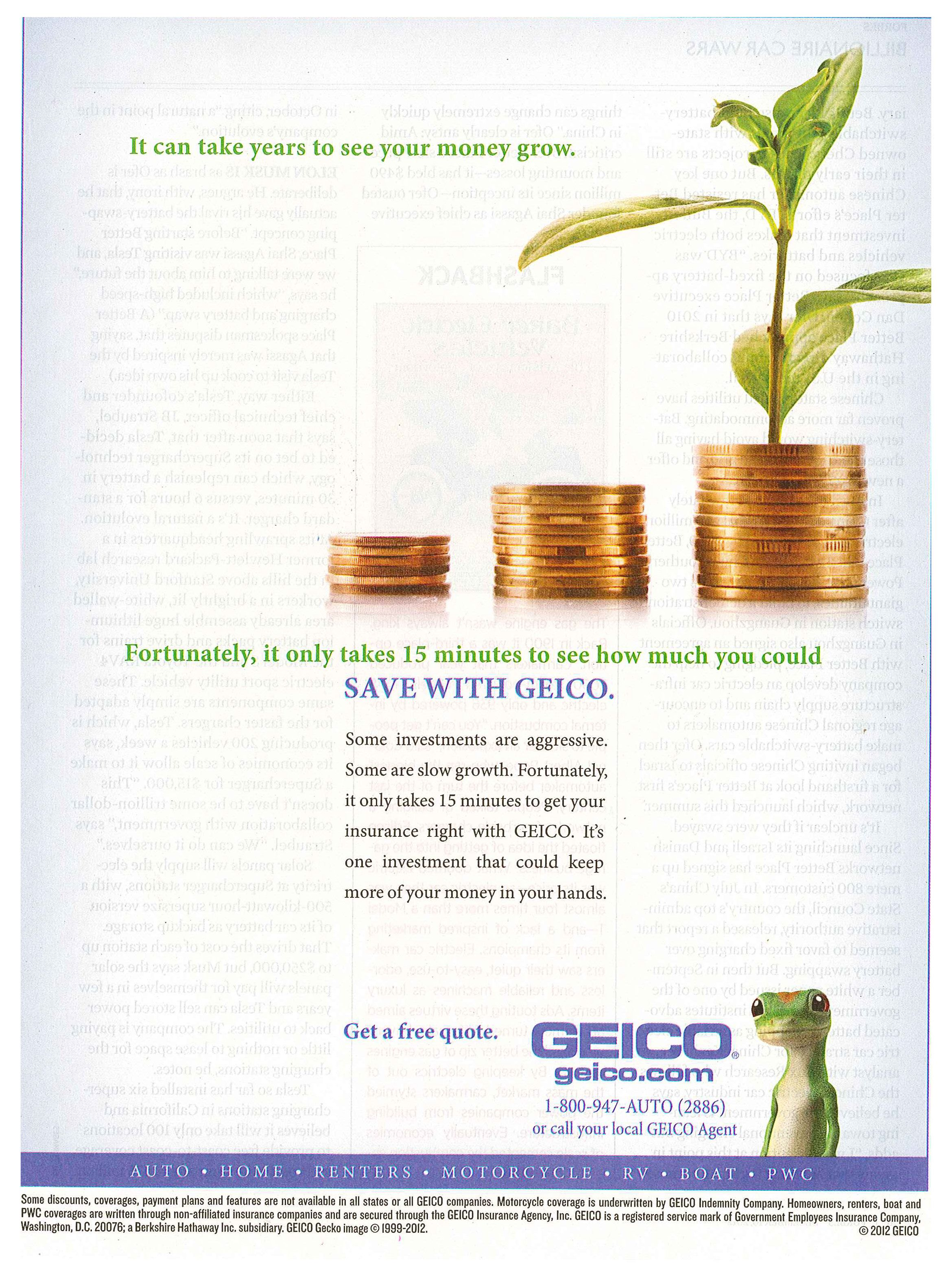 Geico 2013 Place Card Holders Place Cards Geico
