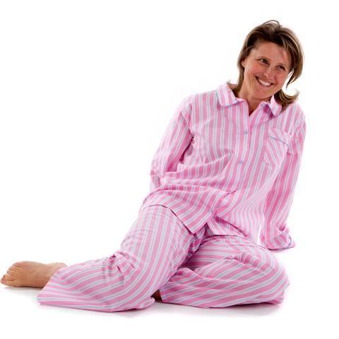 226f27e86 Fine Egyptian cotton candy stripe ladies pyjamas
