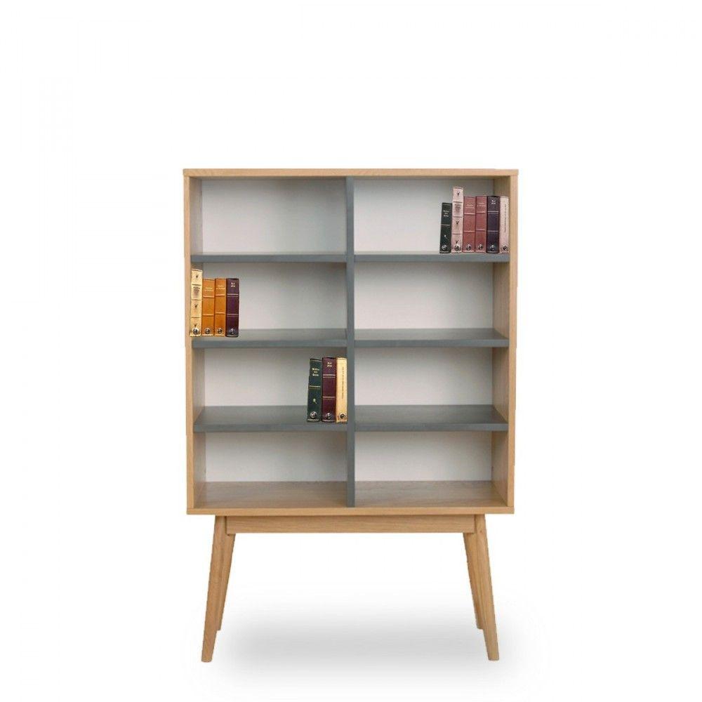 Connu Bibliothèque design scandinave bois 8 niches Skoll | Décoration  NA49